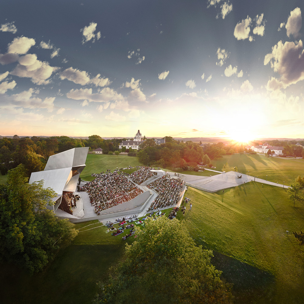 The multi-award-winning concert stage Wolkenturm provides an acoustic experience of exceptional quality.